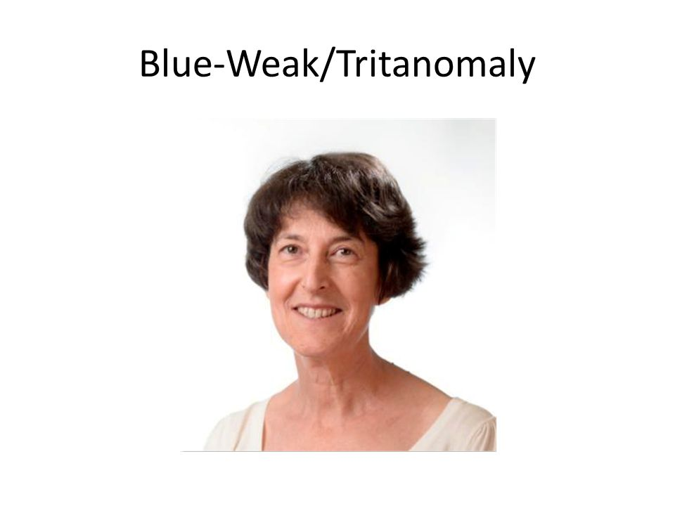 Blue-Weak/Tritanomaly