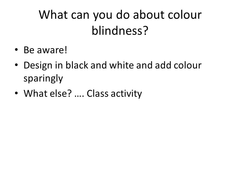 What can you do about colour blindness