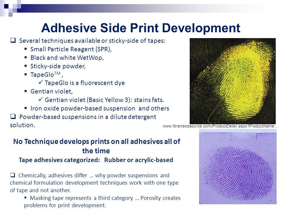 Adhesive Side Print Development