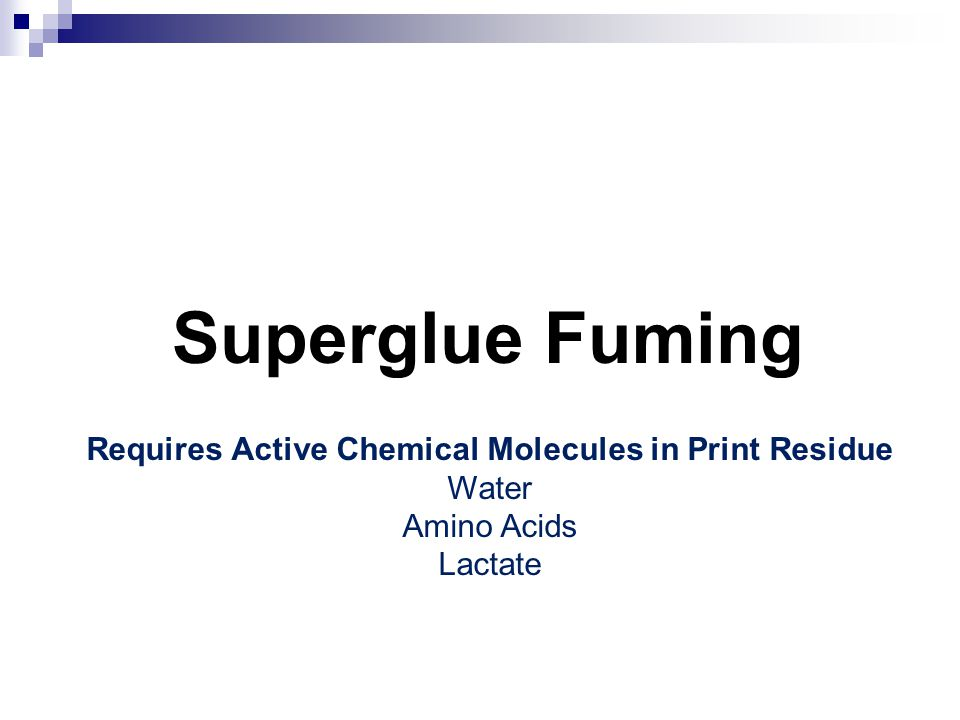Requires Active Chemical Molecules in Print Residue