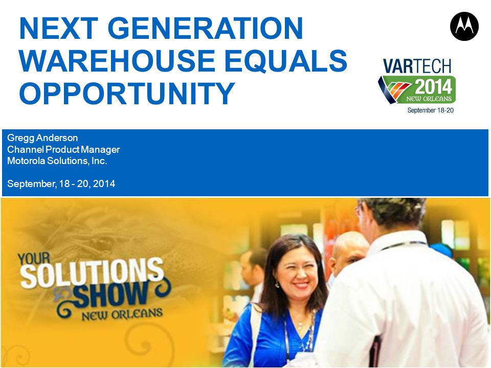 NEXT GENERATION WAREHOUSE EQUALS OPPORTUNITY