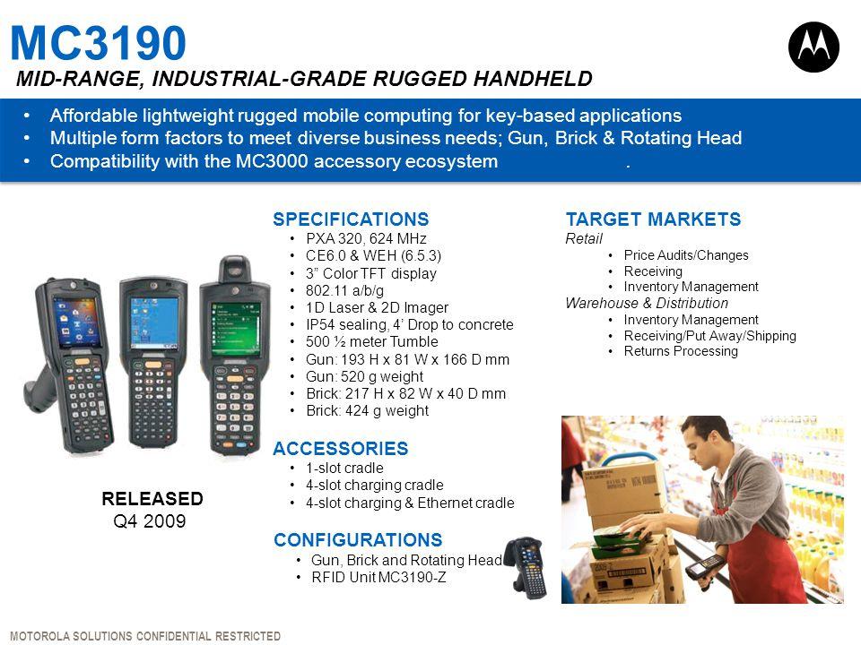 MC3190 Mid-range, Industrial-grade Rugged Handheld