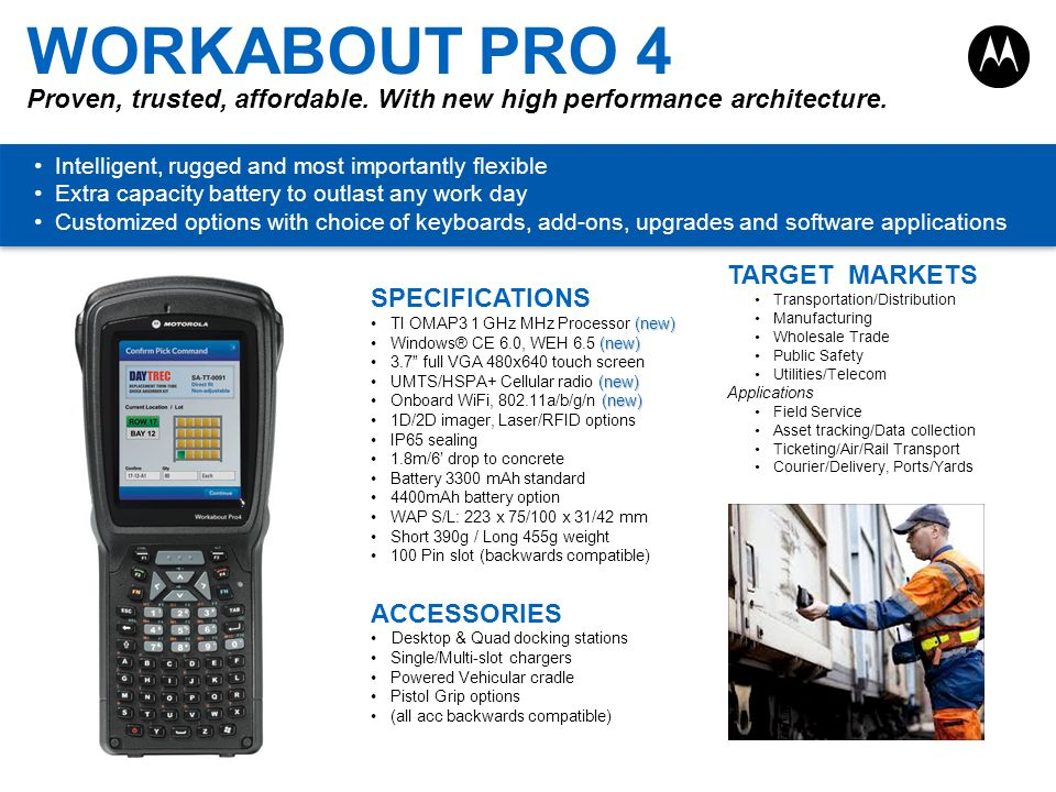 WORKABOUT PRO 4 Proven, trusted, affordable