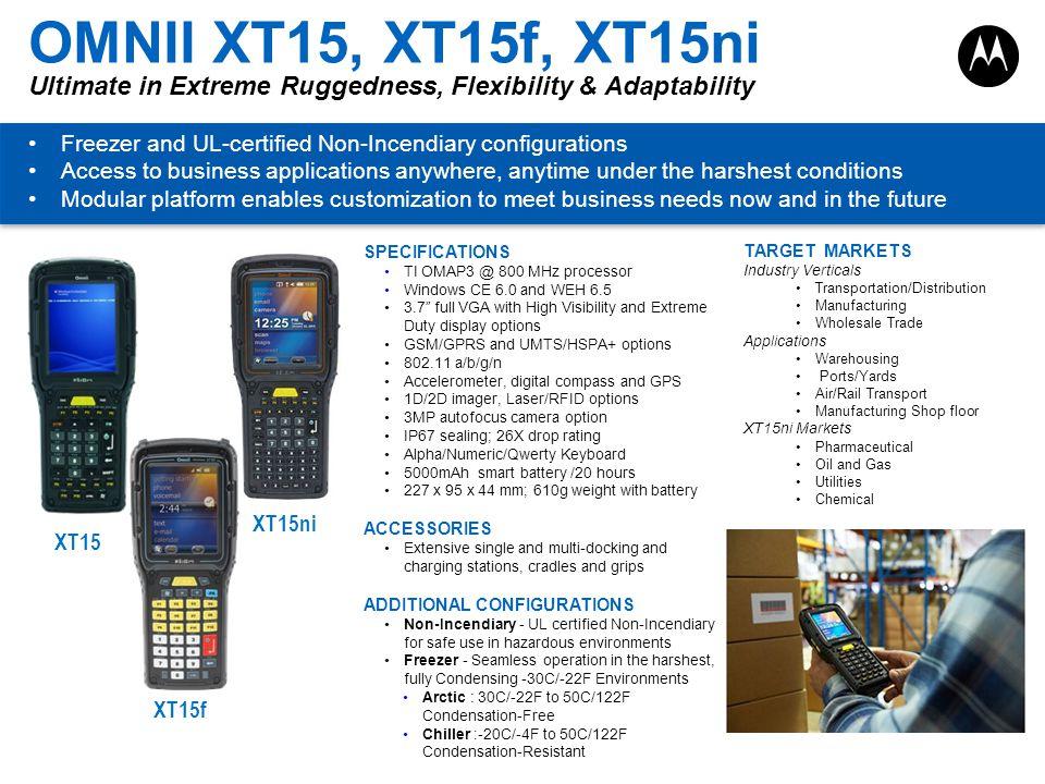 OMNII XT15, XT15f, XT15ni Ultimate in Extreme Ruggedness, Flexibility & Adaptability