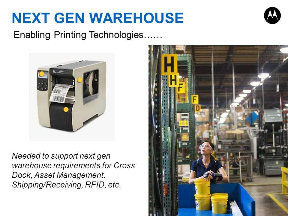 NEXT GEN WAREHOUSE Enabling Printing Technologies……