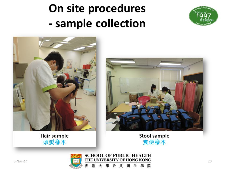 On site procedures - sample collection