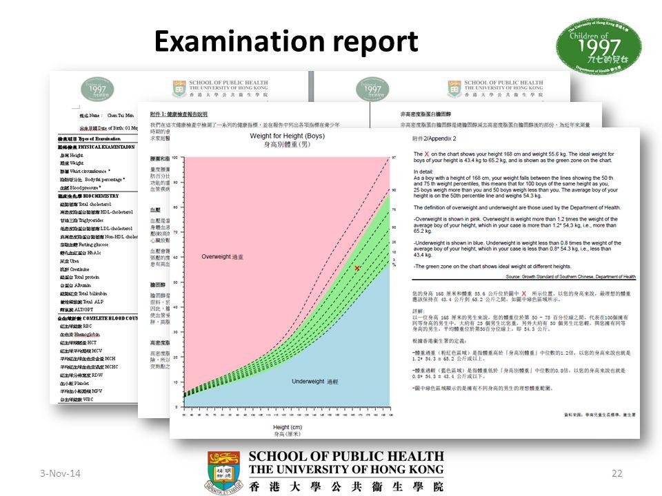 Examination report 3-Nov-14