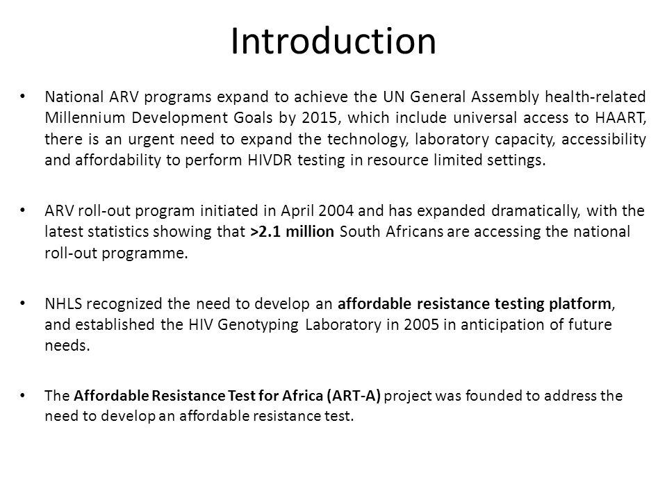 an introduction to the action on aids in africa African responses to hiv/aids between speech and action  limited to  homosexuals, while in africa the hiv epidemic is a general one the importance  of  each and every intro-missive sexual act in which a partner's serostatus is  unknown.