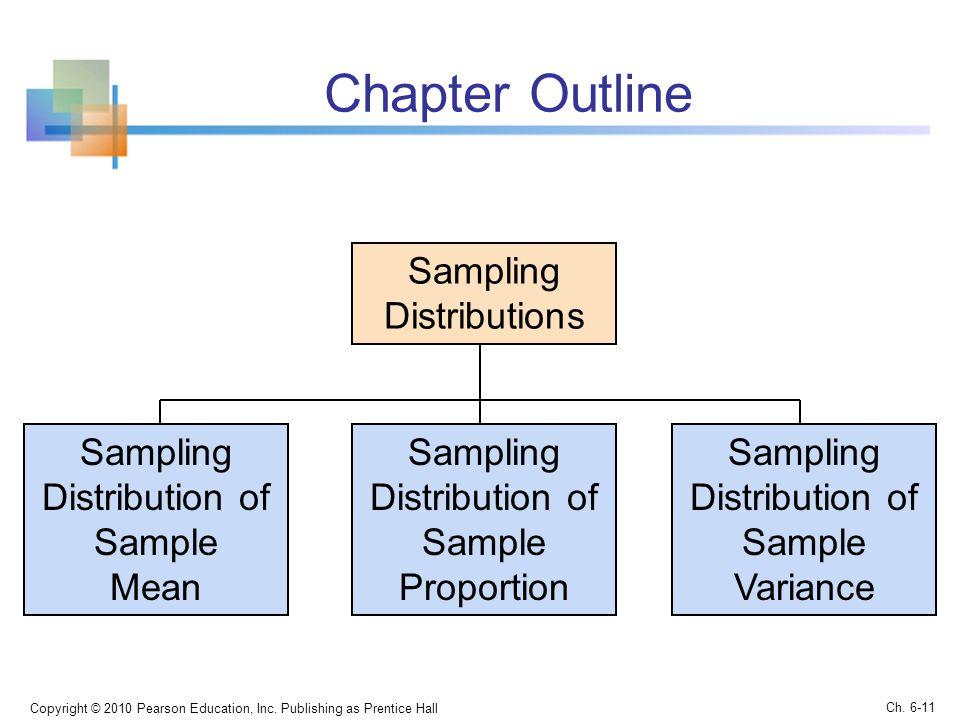 Chapter Outline Sampling Distributions Sampling Distribution of Sample