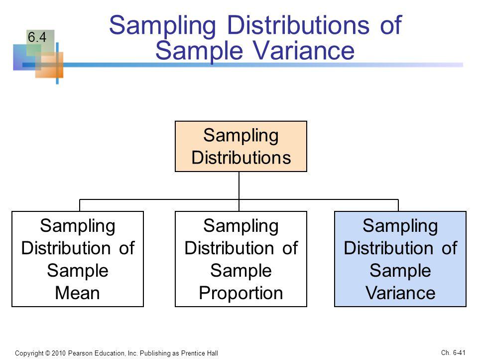 Sampling Distributions of Sample Variance