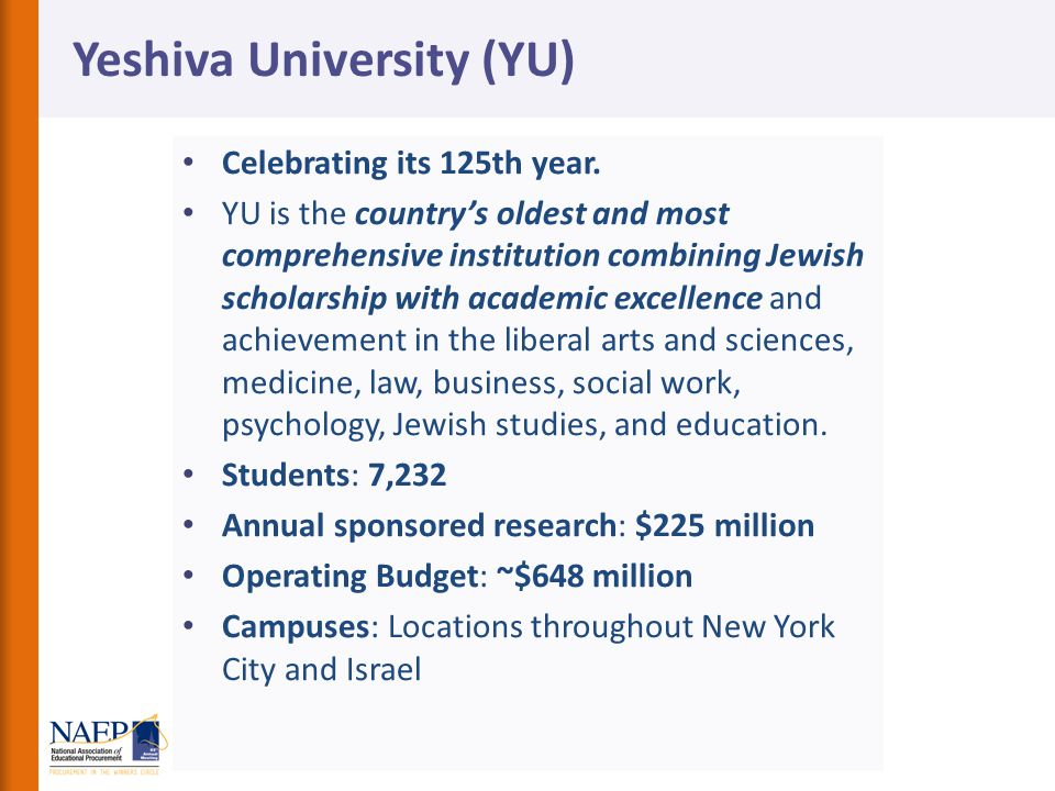 Yeshiva University (YU)