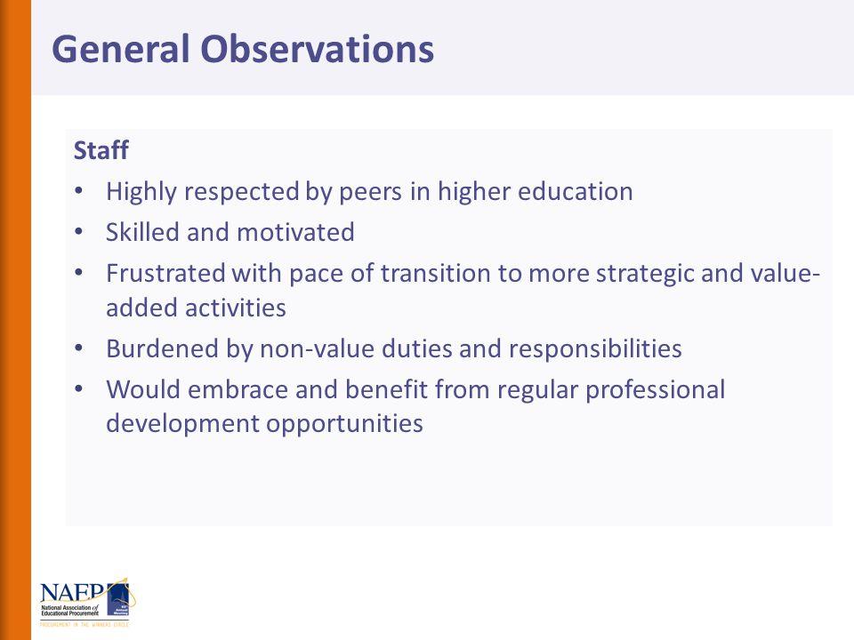 General Observations Staff