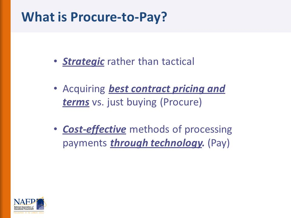 What is Procure-to-Pay
