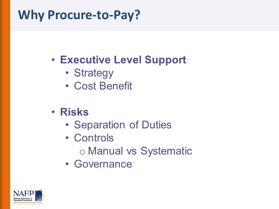 Why Procure-to-Pay Executive Level Support Strategy Cost Benefit