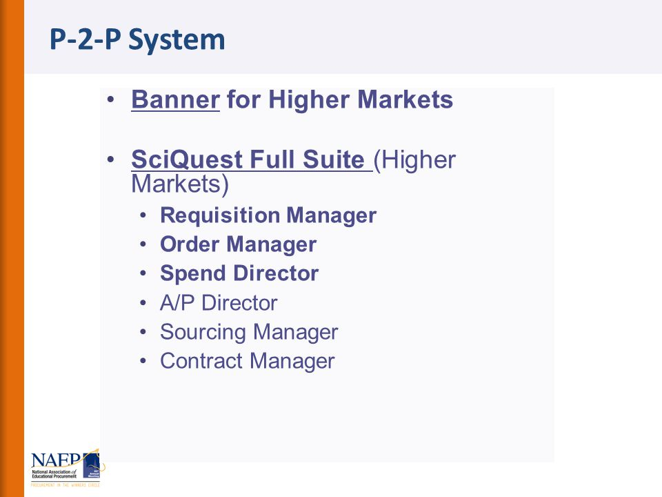 P-2-P System Banner for Higher Markets