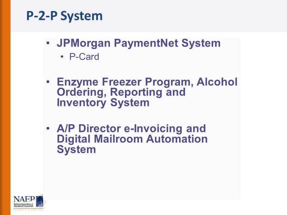 P-2-P System JPMorgan PaymentNet System
