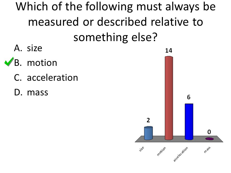 Which of the following must always be measured or described relative to something else