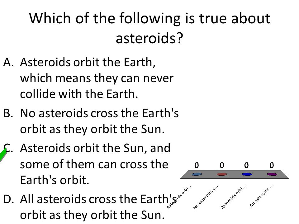 Which of the following is true about asteroids