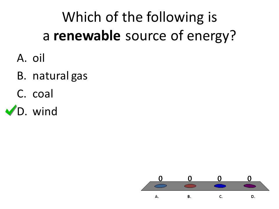 Which of the following is a renewable source of energy