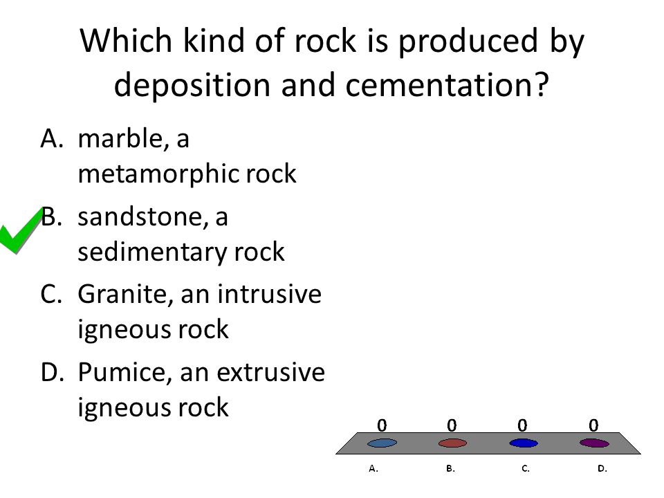 Which kind of rock is produced by deposition and cementation