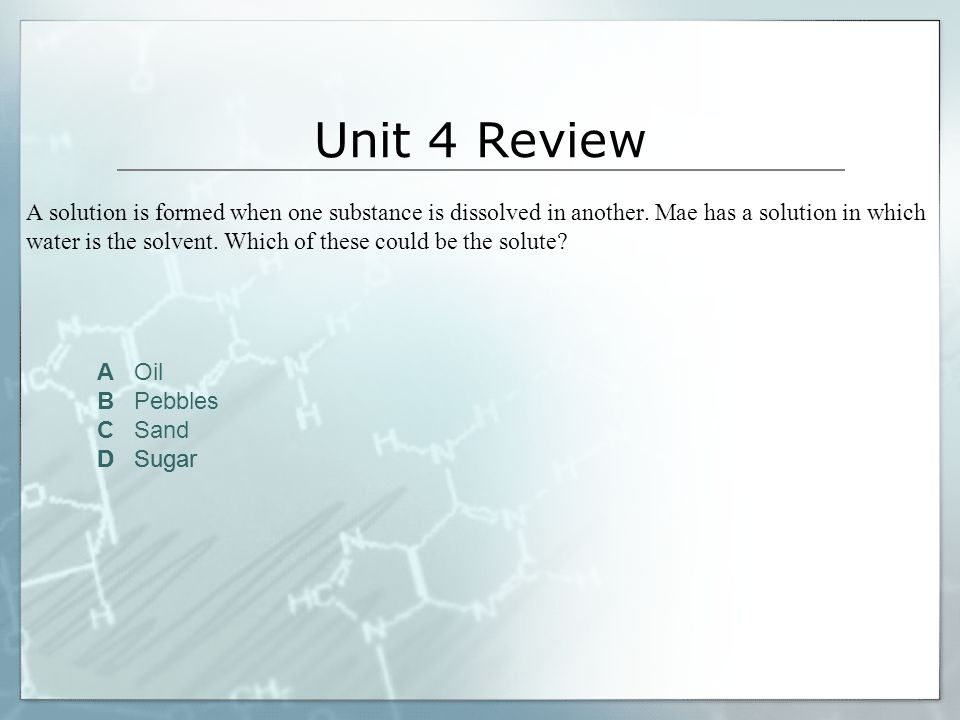 Unit 4 Review
