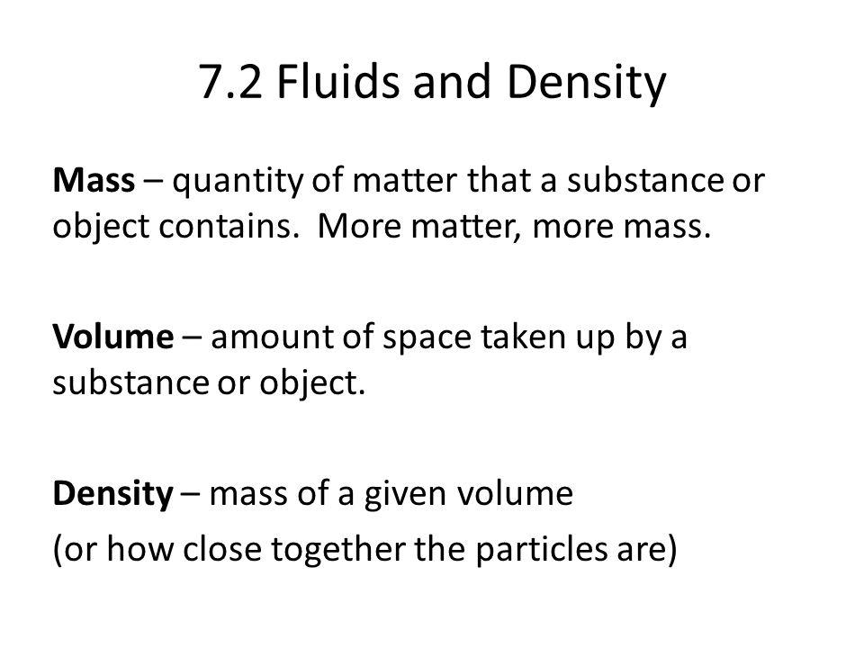 7.2 Fluids and Density