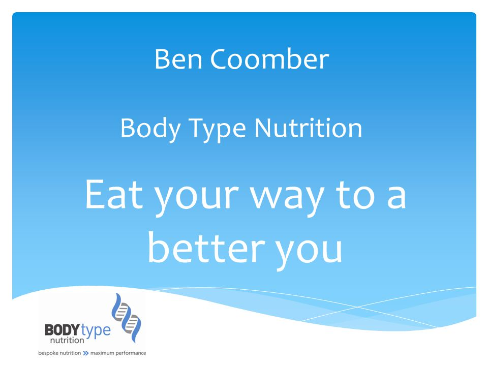 Eat your way to a better you
