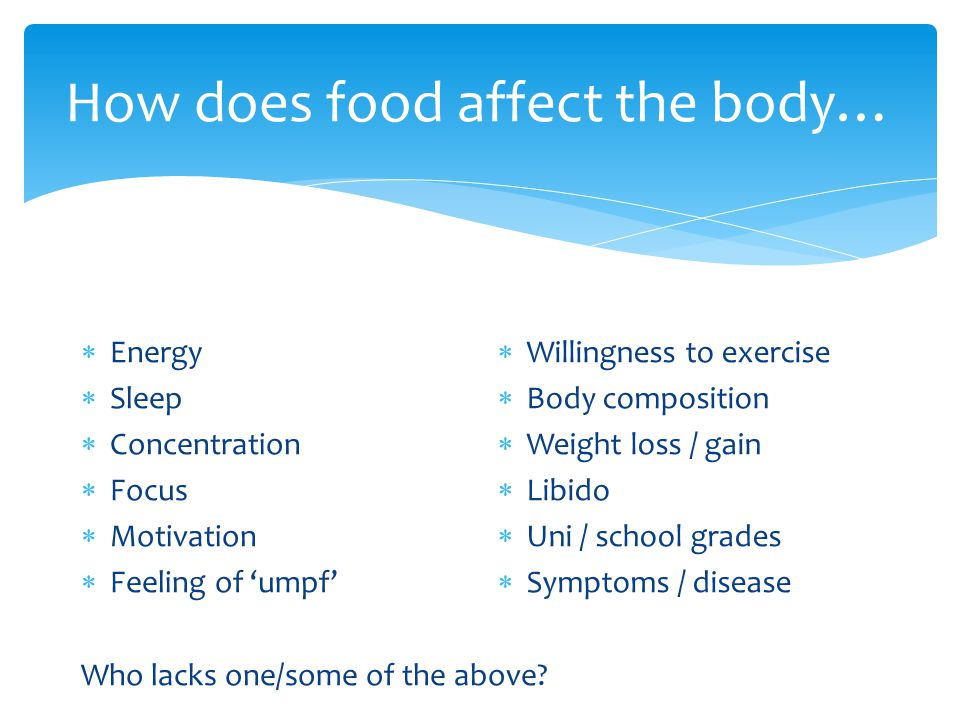 How does food affect the body…