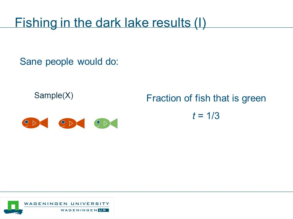 Fishing in the dark lake results (I)