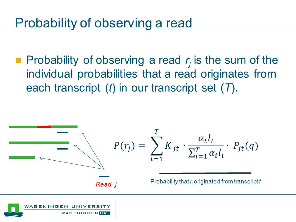 Probability of observing a read