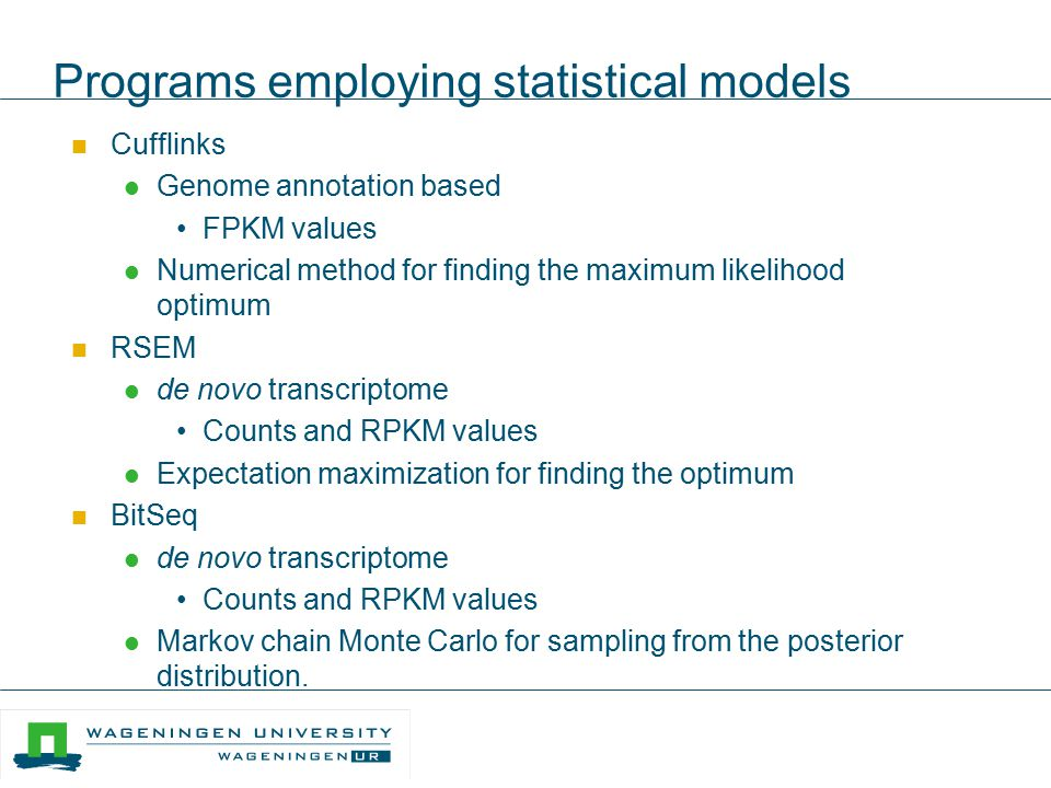 Programs employing statistical models