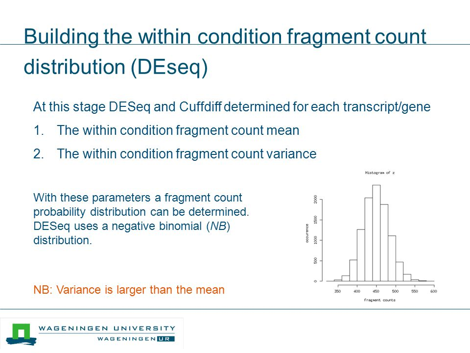 Building the within condition fragment count distribution (DEseq)