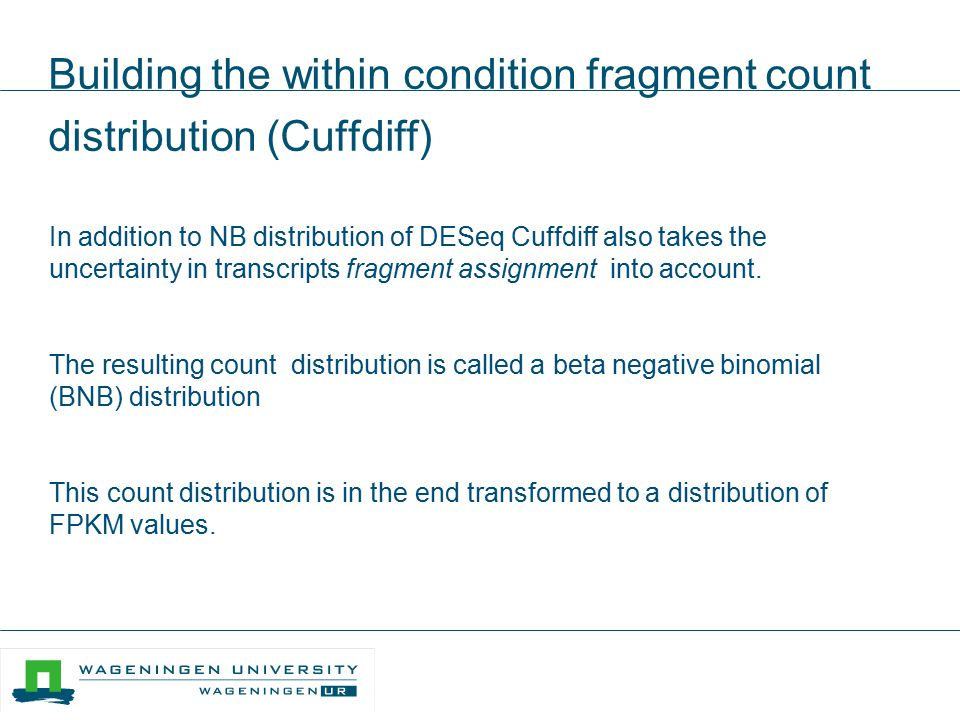 Building the within condition fragment count distribution (Cuffdiff)
