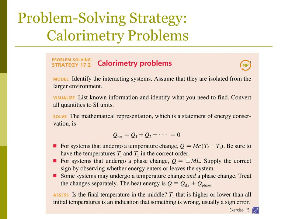 Problem-Solving Strategy: Calorimetry Problems