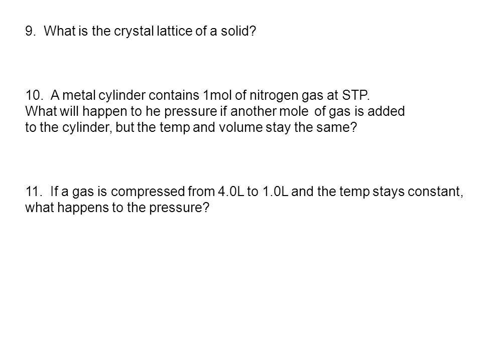 9. What is the crystal lattice of a solid