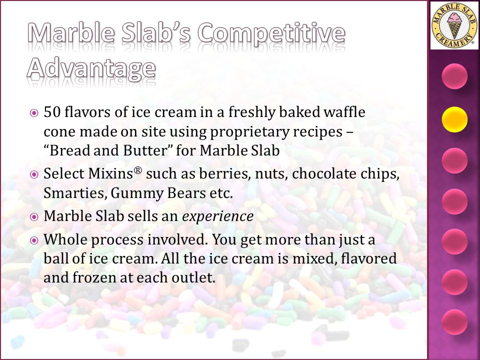 Marble Slab's Competitive Advantage