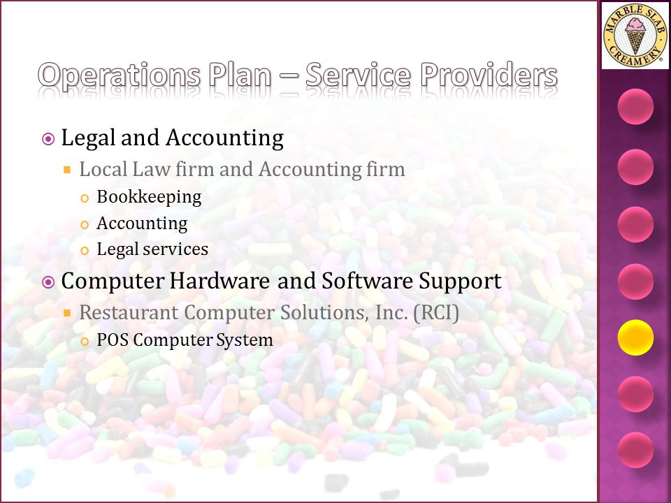 Operations Plan – Service Providers