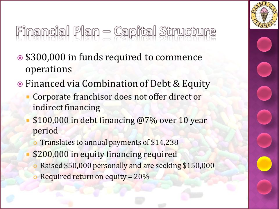 Financial Plan – Capital Structure