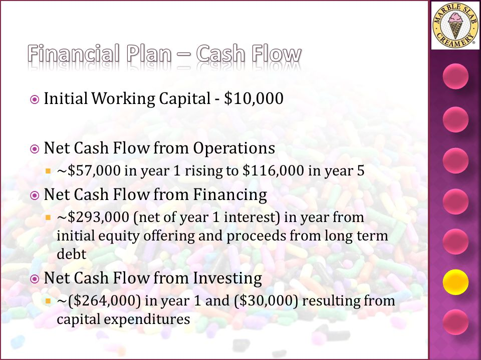 Financial Plan – Cash Flow