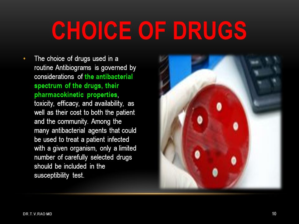 Choice of drugs