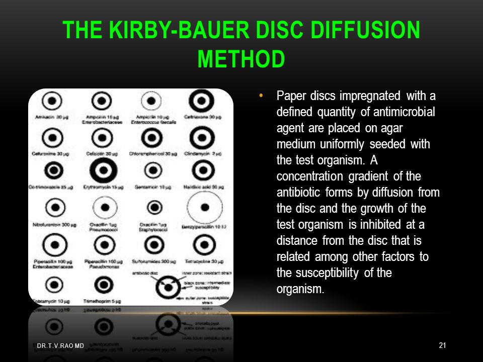 The Kirby-Bauer disc diffusion method