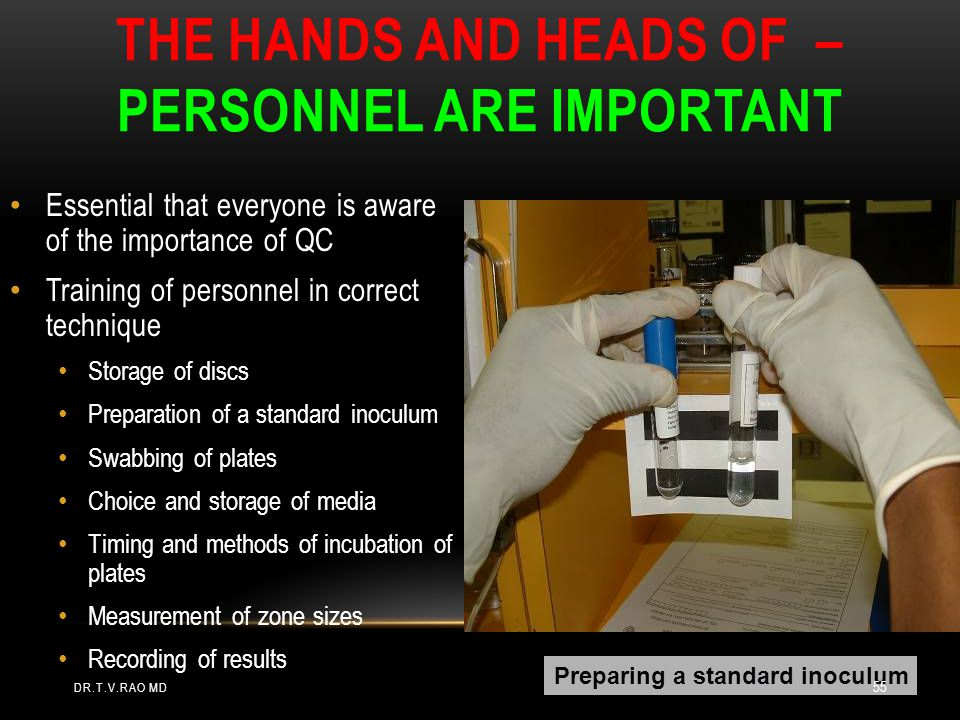The hands and heads of – personnel are important