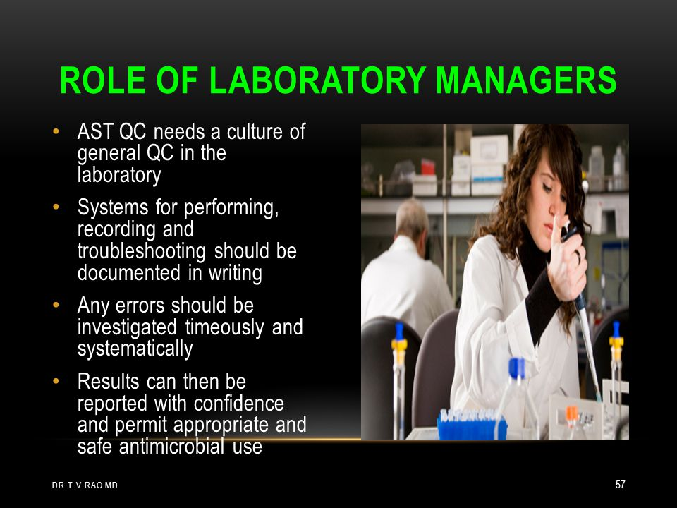 Role of laboratory managers