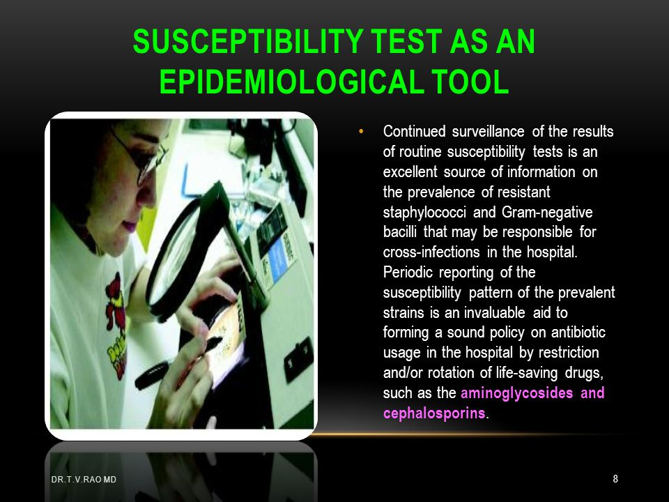 Susceptibility test as an epidemiological tool