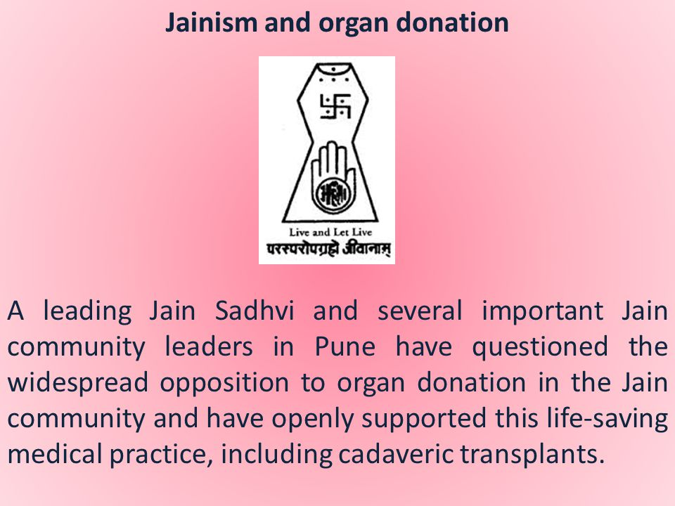 Jainism and organ donation