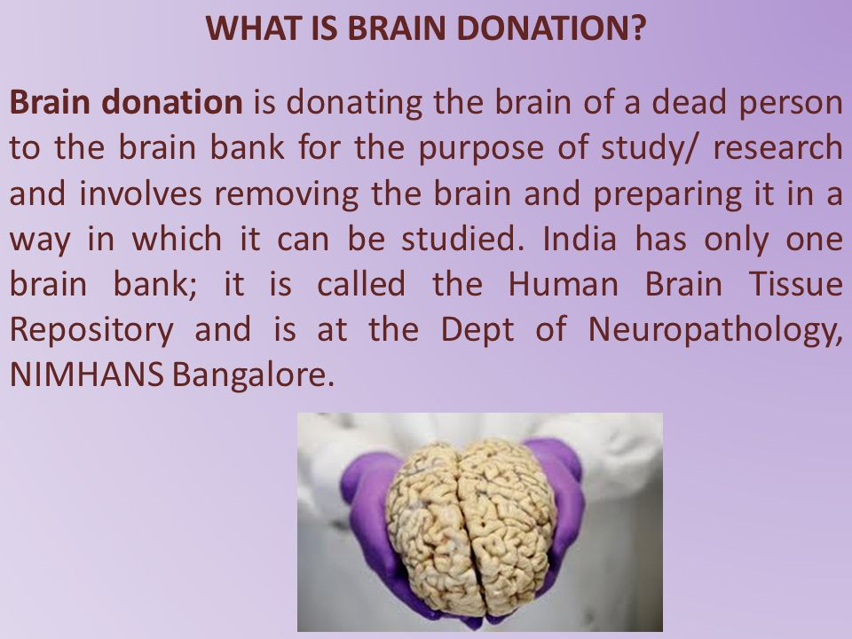 WHAT IS BRAIN DONATION