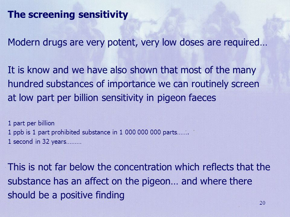 The screening sensitivity