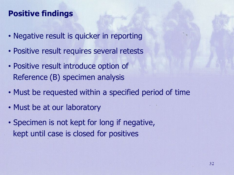 Negative result is quicker in reporting
