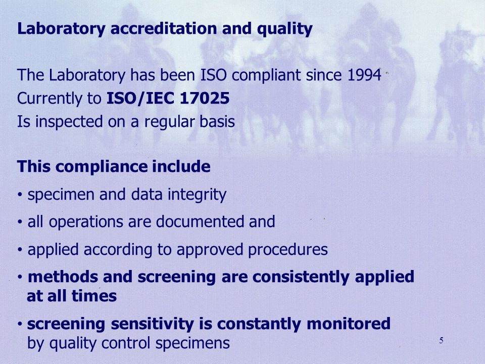 Laboratory accreditation and quality