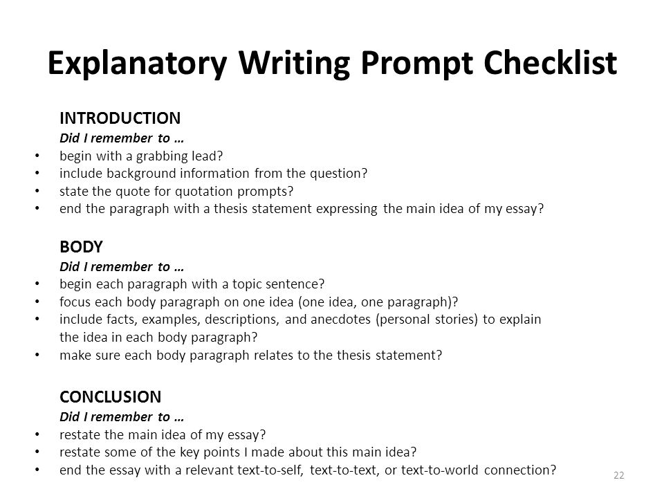 Writing part 2 the informative explanatory writing task ppt